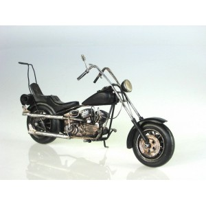 Plechový model Motorka Black Choper