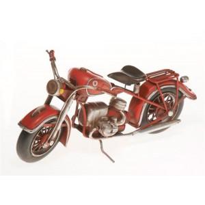 Plechový model Motocykl červený