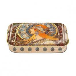 Plechová retro dóza - plechovka Alfons Mucha nízká Zodiak