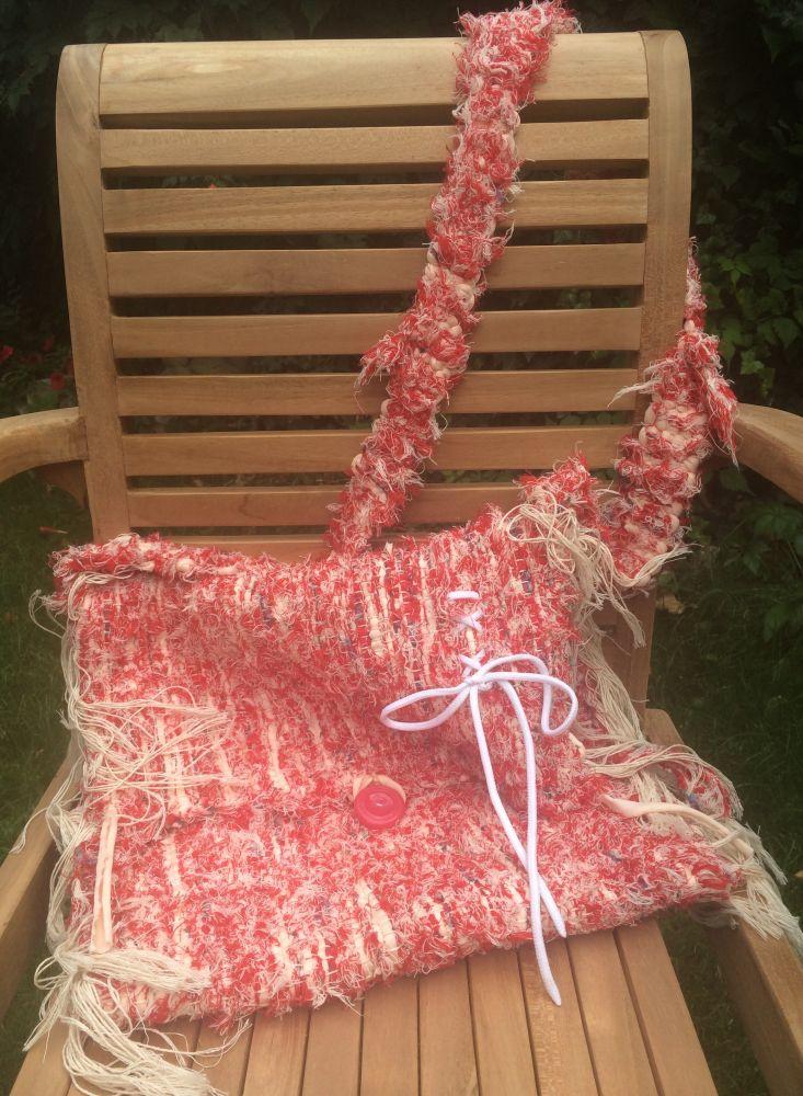 Taška přes rameno ruční práce - drhnutá Redwhite charita
