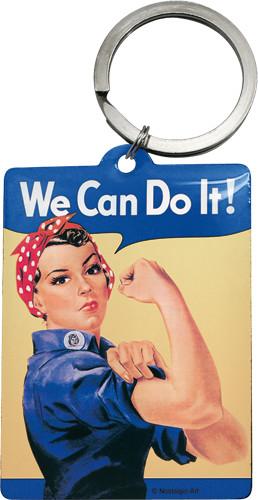 Retro klíčenka We can do it