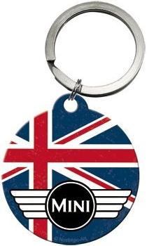 Retro klíčenka Mini cooper vlajka