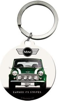 Retro klíčenka Mini cooper zelený