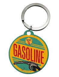 Retro klíčenka Gasoline
