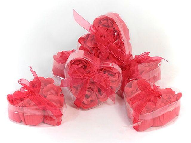 Mýdlové růžičky červené 6ks