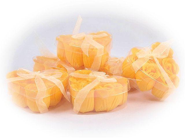 Mýdlové růžičky oranžové 6ks