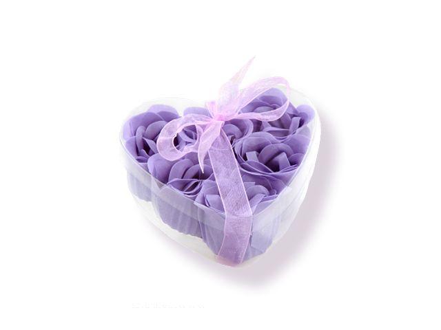 Mýdlové růžičky fialové 9ks