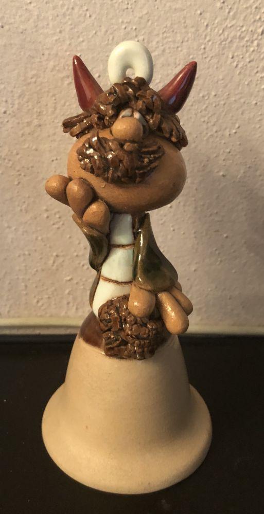 Keramický zvonek Čert