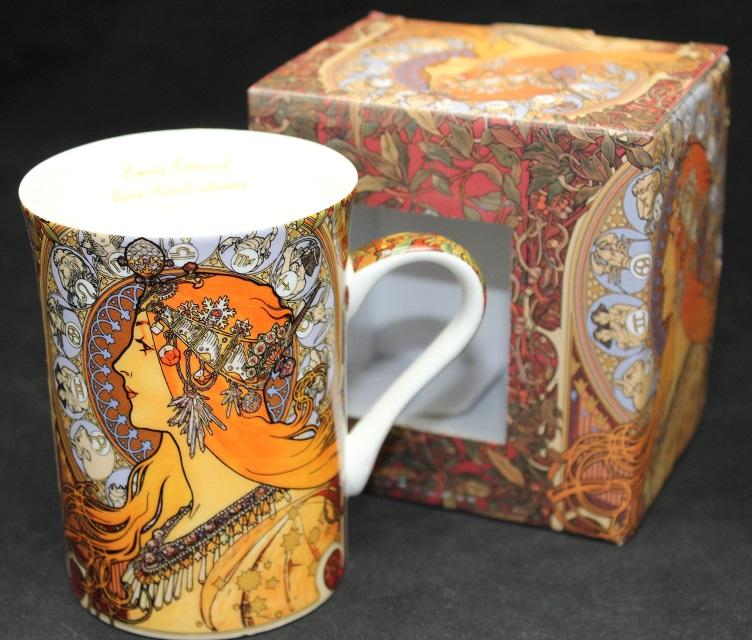 Porcelánový hrnek A. Mucha Zodiak