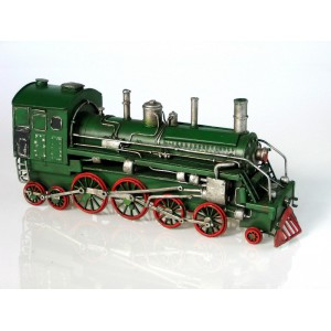 Plechový retro model Lokomotiva zelená