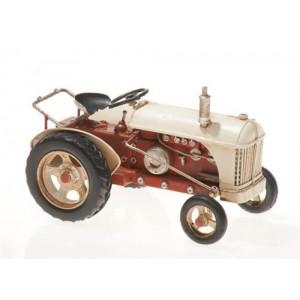 Plechový retro model Traktor