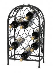 Kovový stojan na víno - 14 lahví