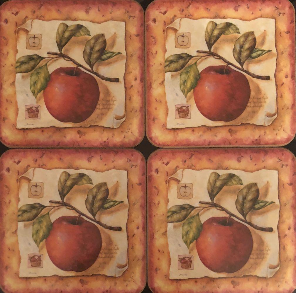 Korkové podložky - podtácky Jablíčko