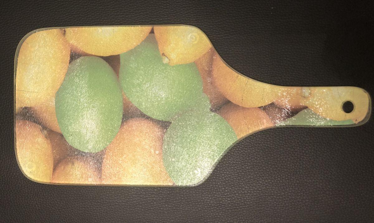 Skleněné prkénko Citrusy - poškozeno