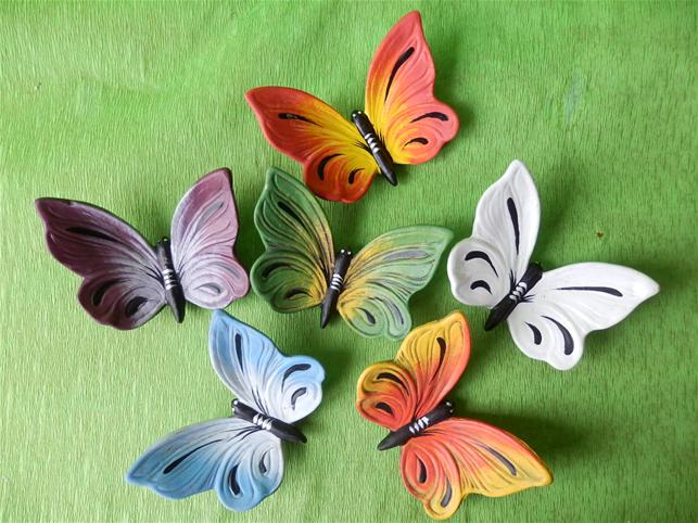 Keramický motýl Modrý