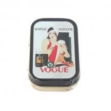 Plechová retro dóza - Lékovka Vogue