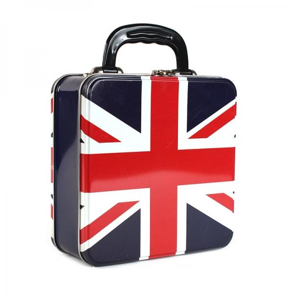 Plechovka - dóza Union Jack - Kufřík britská vlajka heritage