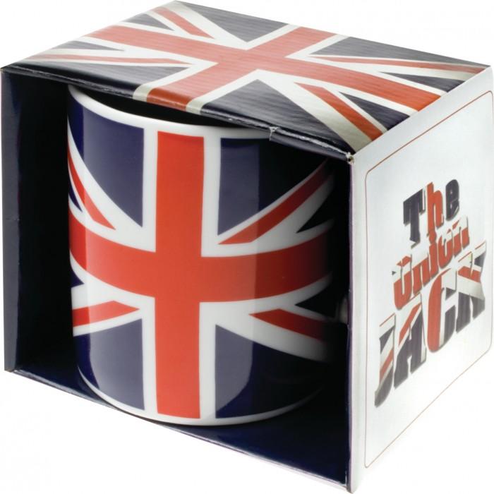 Hrneček mokka Union Jack - vlajka Velké Británie heritage