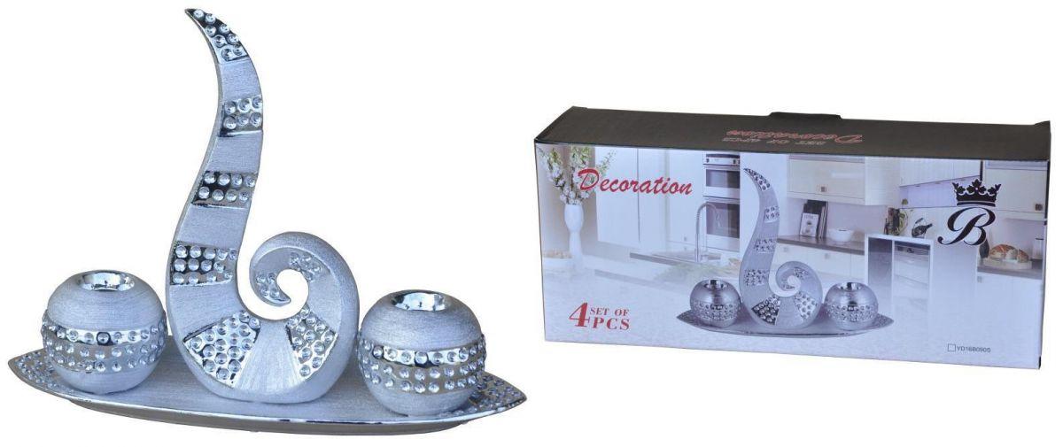 Keramické svícny Silver