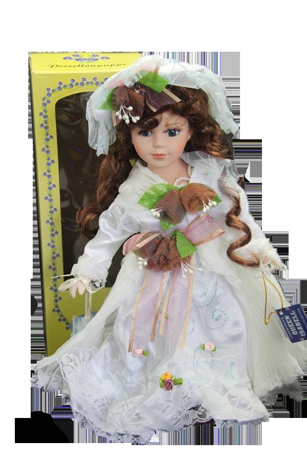 Porcelánová panenka Nevěsta 30cm