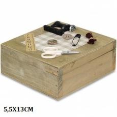 Dřevěná skříňka na šití