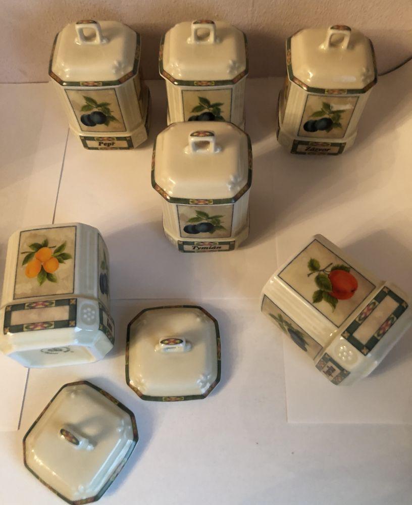 Porcelánové kořenky Ovoce 6kusů - Český porcelán Leander