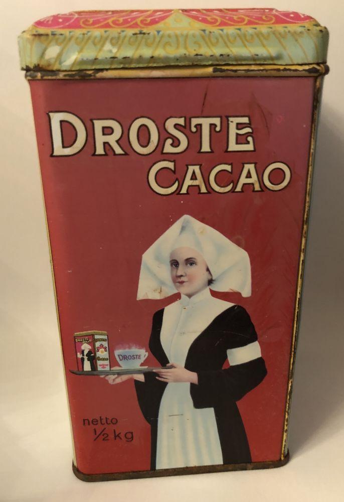 Plechová starožitná dóza - plechovka Droste cacao
