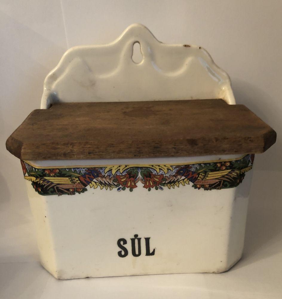 Starožitná keramická slánka Sůl prodáno