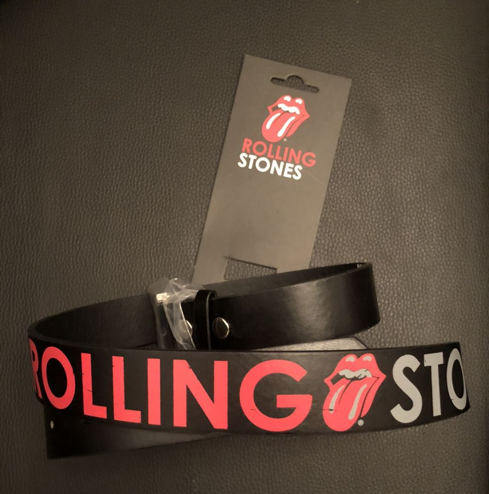 Kožený pásek The Rolling Stones - Vypláznutý jazyk