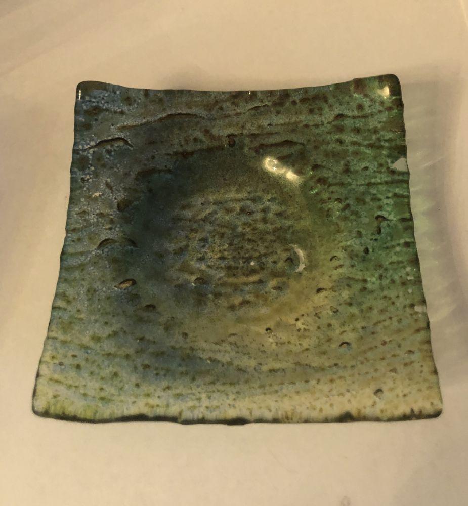 Skleněný podtácek - podložka na čajovku Green
