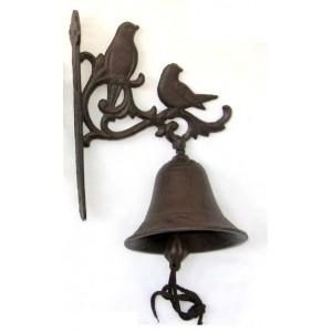 Litinový zvonek Dva ptáčci Kompli