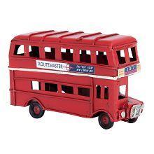 Plechový retro model Londýnský autobus