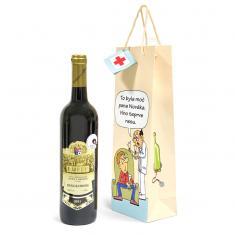 Dárková taška na víno S vtipem
