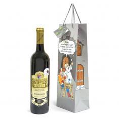 Papírová taška na víno S vtipem Říkáte