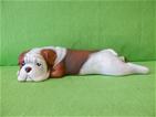 Keramický pes Buldok color rezavý