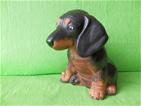 Keramická soška - Pes Jezevčík color
