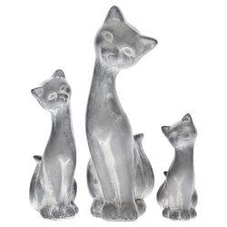 Keramické sošky Kočky - sada 1+1+1
