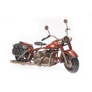 Plechový model Motocykl hnědý s taškami
