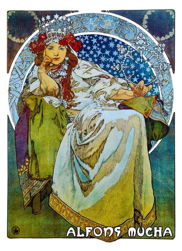 Krásné zrcátko Alfons Mucha Hyacint