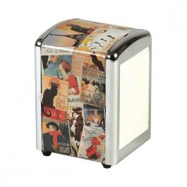 Plechová retro box na ubrousky Paris