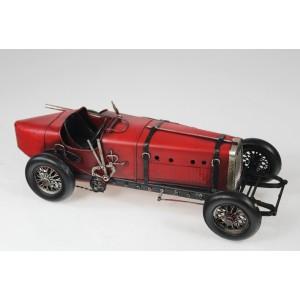 Plechový retro model Auto veterán červený