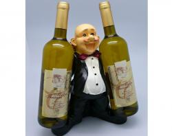 Originální stojan na víno Číšník 2 láhve
