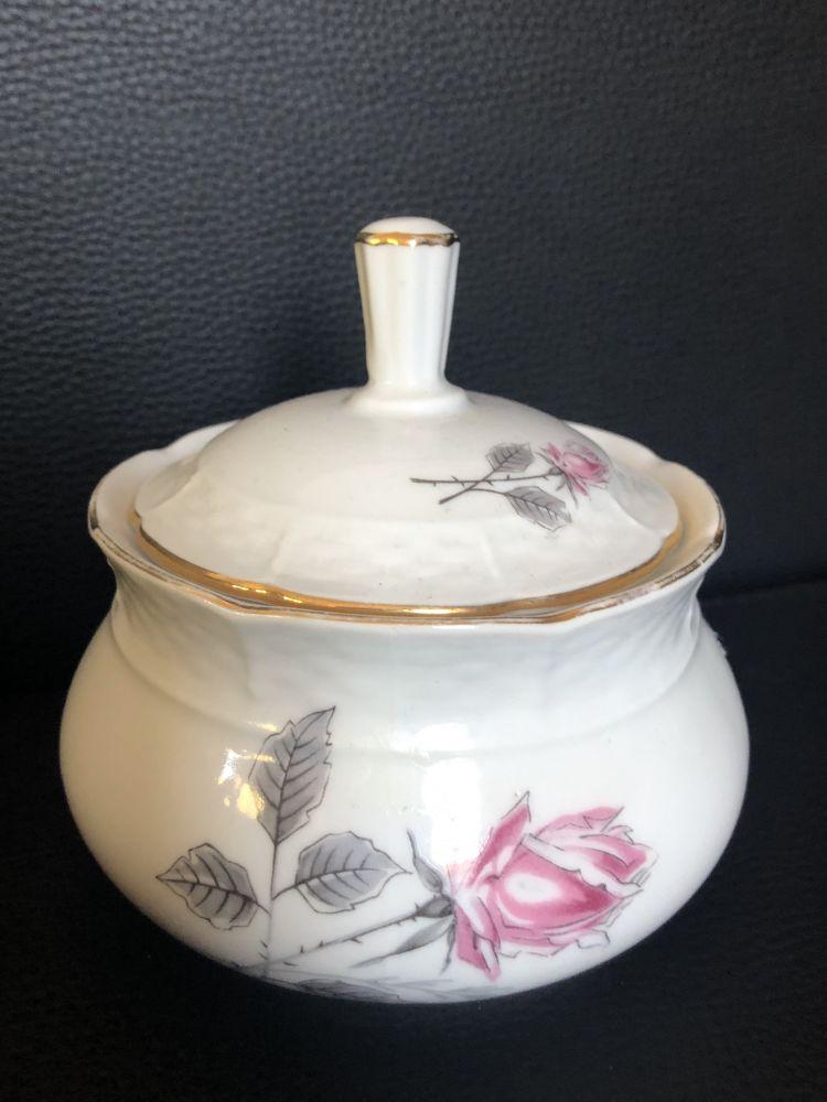 Porcelánová cukřenka S růžičkou Thun