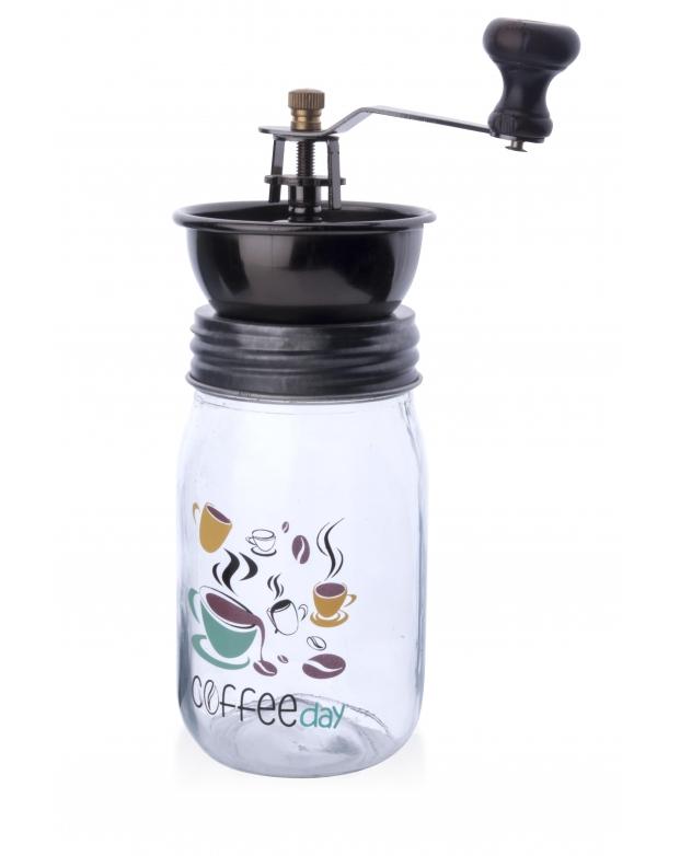 Skleněný mlýnek na kávu Coffee