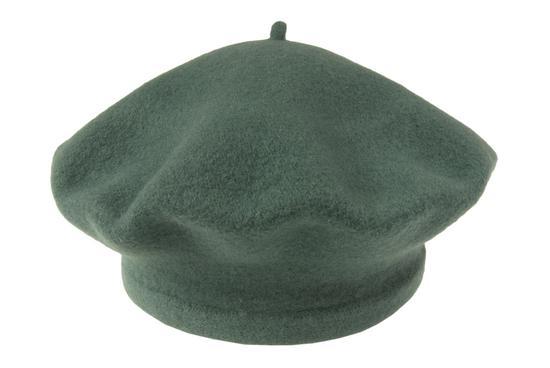 Vlněný baret petrolejový