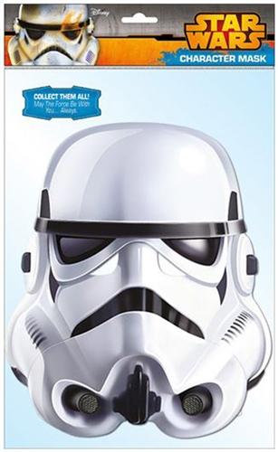 Papírová maska na tvář Star Wars/Hvězdné Války Stormtrooper
