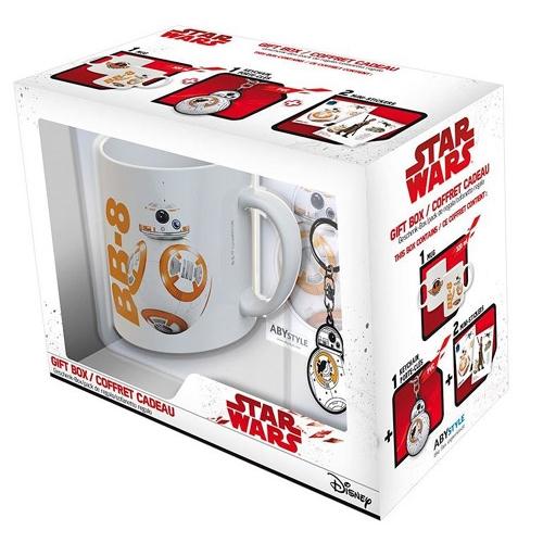 Dárkový set Star Wars/Hvězdné války BB8 hrnek + klíčenka + 2 nálepky