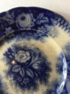 Starožitný talíř - Jardiniere - V&B villeroy boch cca 1850