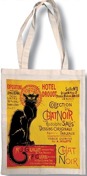 Bavlněná taška Chat Noir - kočka