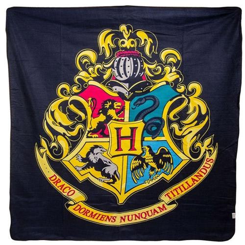 Deka fleece Harry Potter Hogwarts barevná